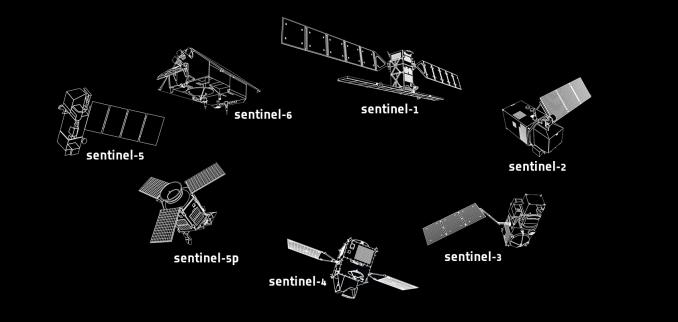 ESA Sentinel 1 to 5
