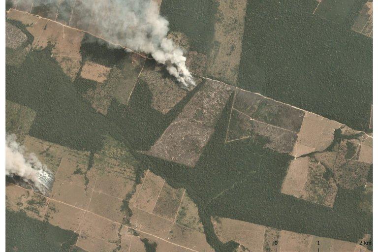 Satellite Images of Amazon Deforestation